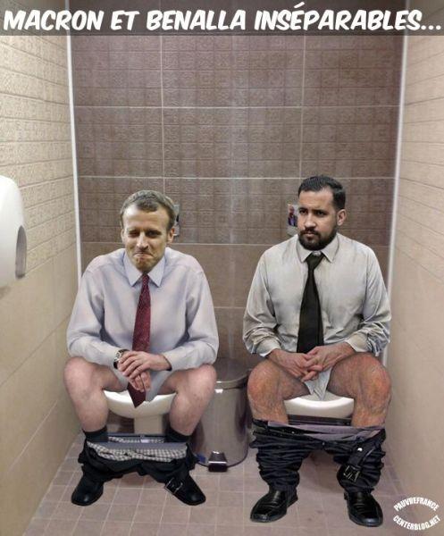 Le dessin du jour (humour en images) - Page 20 Macron_et_Benalla