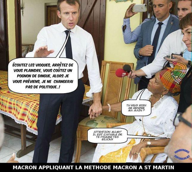 Le dessin du jour (humour en images) - Page 20 Macron_ile_St_Martin_1
