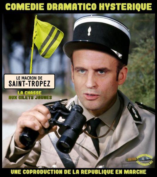 Le dessin du jour (humour en images) - Page 22 Macron_St_Tropez